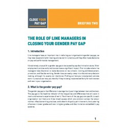 2. The role of line managers in closing your gender pay gap